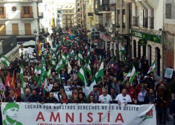 Cerca de 3.000 manifestantes en Jaén por la amnistía y libertad para Andrés Bódalo