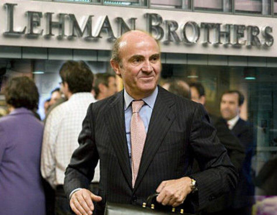 Garzón reclama que Luis de Guindos explique el contrato con Lehman Brothers durante la alcaldía de Ruiz-Gallardón