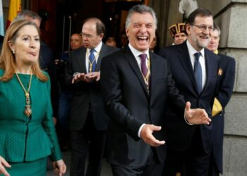 Duras críticas a Macri en su visita a España. Se escucharon repetidos reclamos por la libertad de Milagro Sala