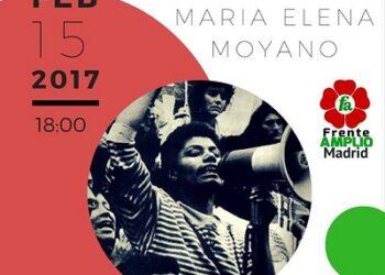 Acto homenaje a María Elena Moyano, asesinada por Sendero Luminoso hace 25 años en Perú