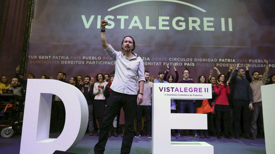 Iglesias arrasa en Vistalegre II y se impone frente a Errejón en todas las votaciones