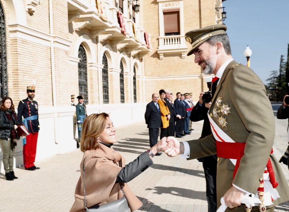 Críticas a Felipe de Borbón por conmemorar la refundación franquista de la Academia Militar de Zaragoza