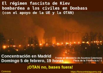 Se concentrarán hoy en Madrid para exigir al gobierno el cese de todo reconocimiento al régimen golpista de Poroshenko