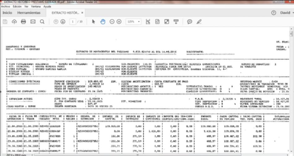 Tutorial de la PAH para calcular el gasto de la cláusula suelo