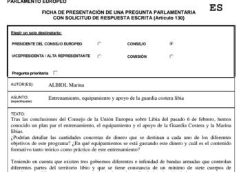IU pide al Consejo que aclare quiénes son los guardacostas libios a los que va a entrenar la UE y a qué autoridad obedecen