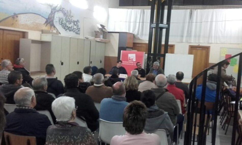 IU Almería realiza un taller sobre cláusulas suelo y abusos bancarios en el barrio de Los Ángeles