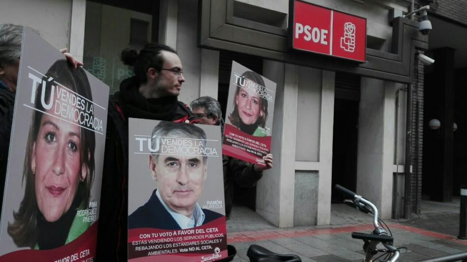 Semana de movilizaciones contra el CETA para impedir su ratificación en el Parlamento Europeo