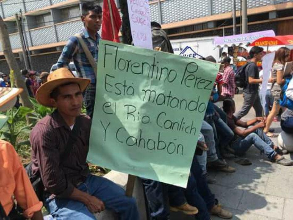 Un millar de indígenas quekchí se manifiestan ante la Embajada de España en Guatemala contra ACS y Florentino Pérez