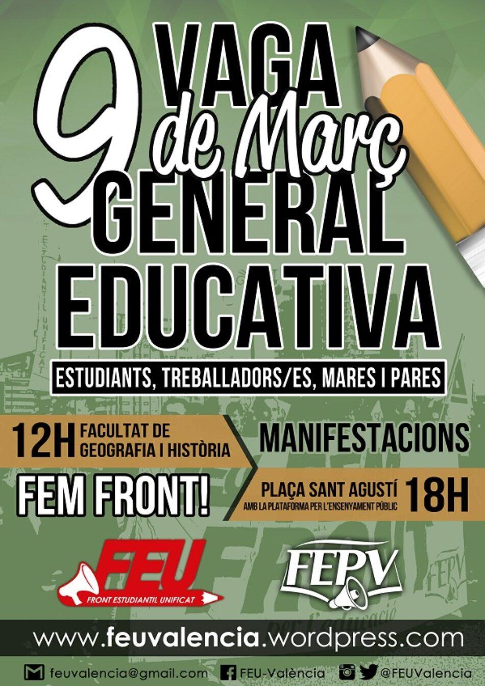 Vaga General Educativa del 9 de Marrç