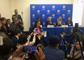 Embajadora venezolana ante la OEA interrumpe rueda de prensa de Almagro