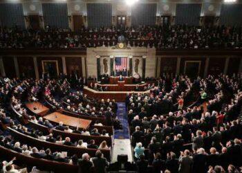 Trump debuta en el Congreso: envía un mensaje de «unidad y fortaleza. »Reitera que el gran muro «en la frontera sur» será «un arma contra las drogas y el crimen»