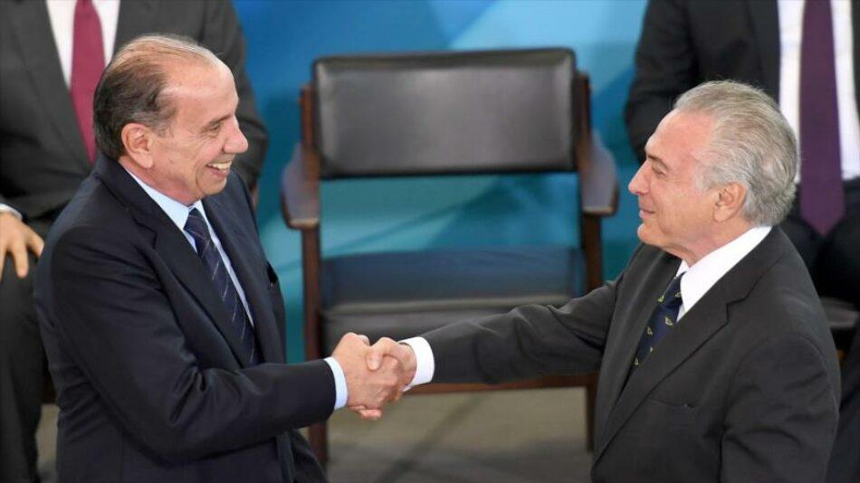 Nuevo canciller de Temer también recibió 'donaciones' de Odebrecht