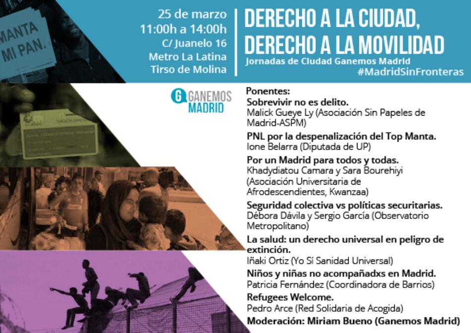 Jornadas de Ciudad Ganemos Madrid, » Derecho a la ciudad, derecho a la movilidad»