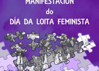 Esquerda Unida fai un chamamento á participación na manifestación unitaria polo Día Internacional da Muller, este domingo 5 de marzo en Compostela
