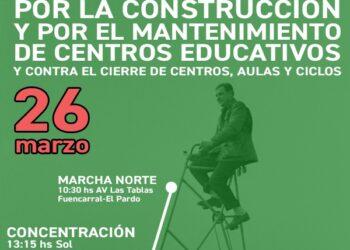 Domingo, 26M: Cuatro marchas ciclistas llevarán al centro de Madrid la necesidad de nuevos equipamientos educativos