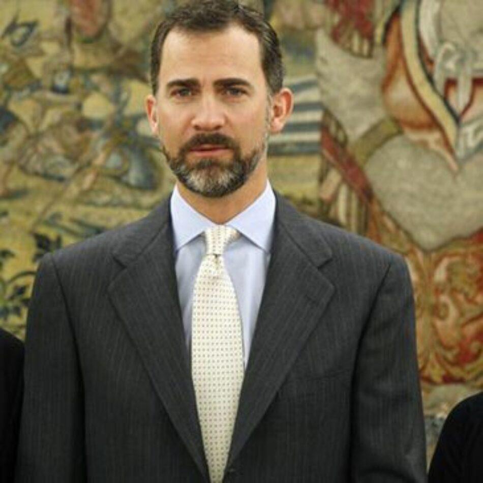 """Garzón tacha de """"continuista"""" la labor de Felipe de Borbón y señala que mantiene el """"legado de su padre"""" tras """"protegerse"""" con la sucesión"""