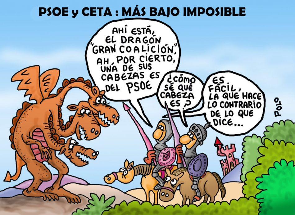 PSOE y CETA: más bajo imposible