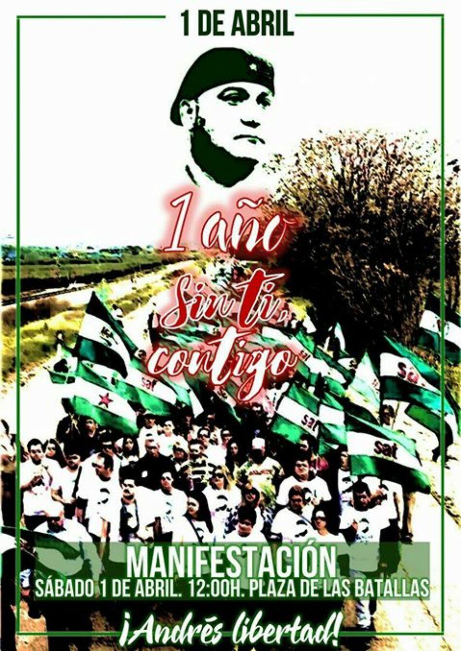 Manifestación el 1 de abril frente a la Subdelegación del Gobierno en Jaén: ¡Andrés Libertad!
