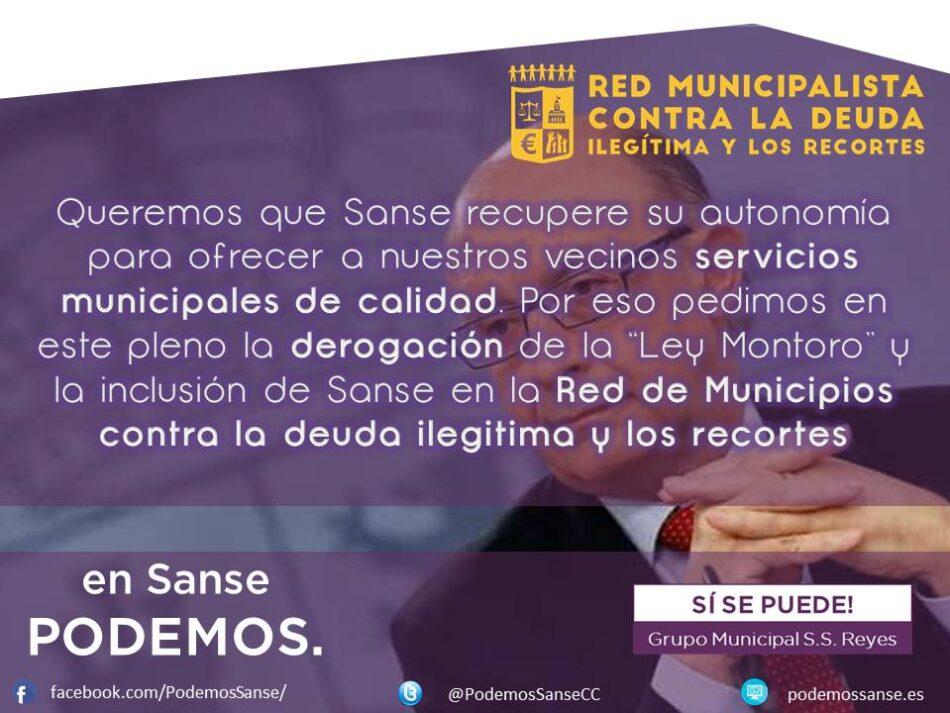 El Ayuntamiento de San Sebastián de los Reyes aprueba la moción de Podemos Sanse para adherirse a la Red Municipalista contra la deuda ilegítima y los recortes