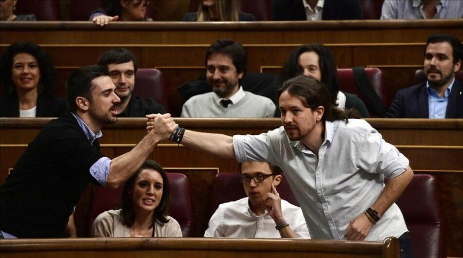 Iglesias y Espinar participan en un encuentro con círculos de Madrid organizado por la dirección  municipal