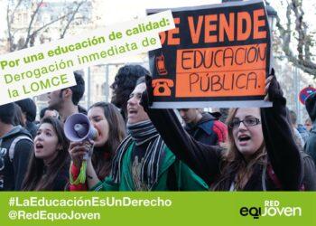 EQUO llama a secundar la huelga en Educación y a reforzar la campaña para conseguir el blindaje del presupuesto