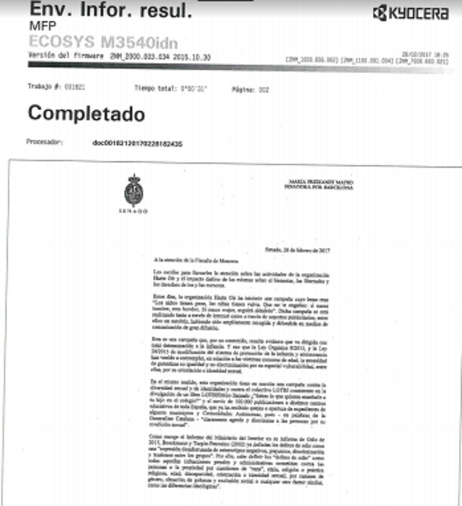 En Comú Podem dirige una carta a la Fiscalía de Menores poniendo en su conocimiento la campaña transfóbica de Hazte Oír