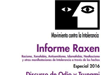 Movimiento contra la Intolerancia presenta el Informe Raxen y alerta del crecimiento del discurso del odio y del avance de la Xenofobia