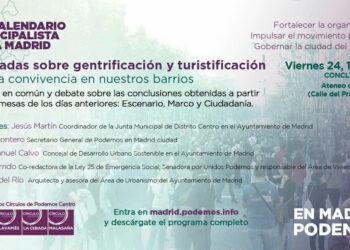 Podemos plantea crear una plataforma ciudadana amplia para abordar los fenómenos de la turistificación y la gentrificación en Madrid