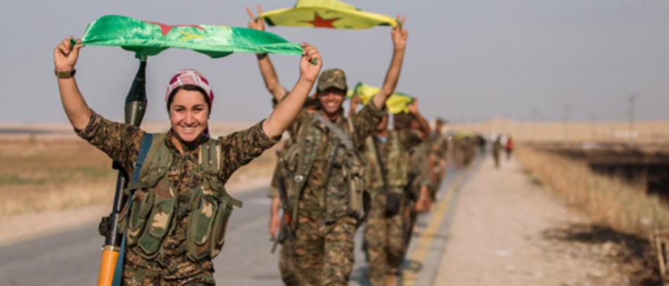 La lucha kurda en cuatro regiones  Rojava: el Kurdistán autónomo en Siria