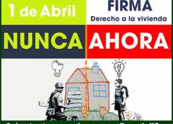 1 de abril: los grupos de la ILP de vivienda recogerán firmas en un centenar de puntos de la región madrileña