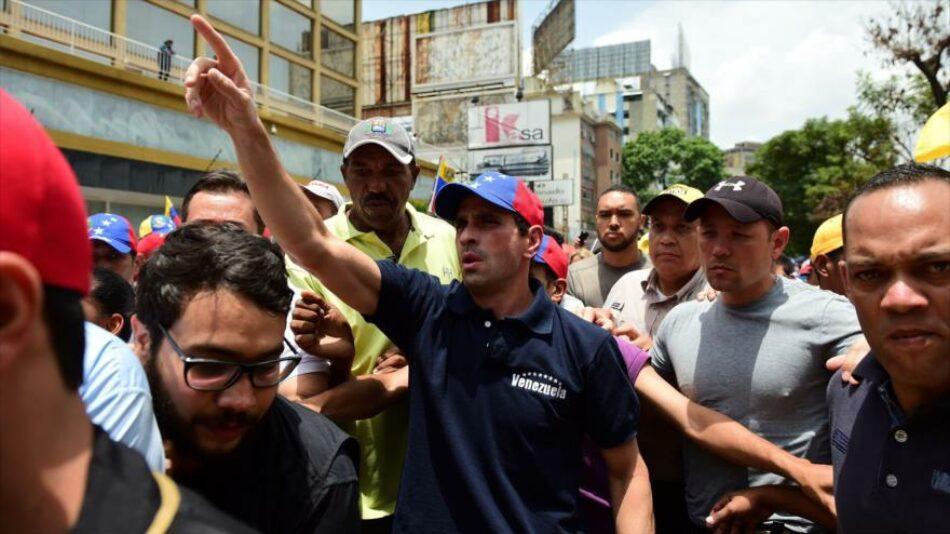 Oposición venezolana convoca para el jueves una nueva marcha