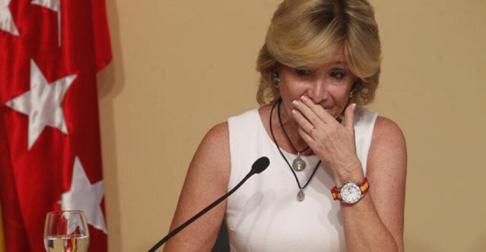 Ahora Madrid celebra la dimisión de Aguirre, pero exige el esclarecimiento de su etapa como presidenta del PP de Madrid