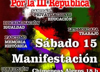 Fuerzas políticas republicanas de Elche llaman a marchar por la república