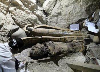 Hallan tumba intacta de alcalde faraónico con 8 momias en Egipto