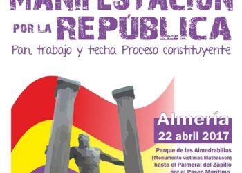 La Coordinadora Republicana de Almería convoca manifestación el 22 de abril por la III República