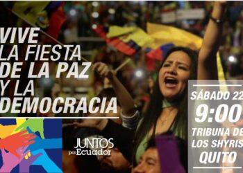 Correa convoca a concentración «por la paz y la democracia»