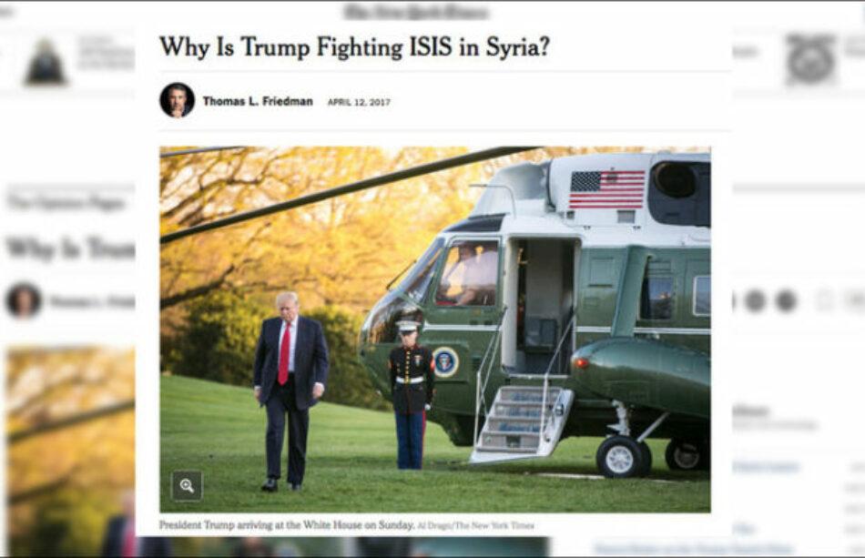 ¿Derrotar al EI? ¿Para qué? Columnista de 'The New York Times' propone a EE.UU. nuevo plan en Siria