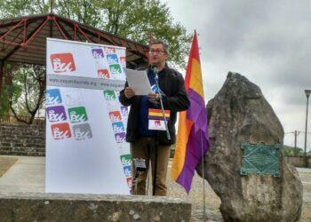 Esquerda Unida celebrou este 14 de abril un acto en memoria dos presos republicanos en Lavacolla e unha concentración na Alameda