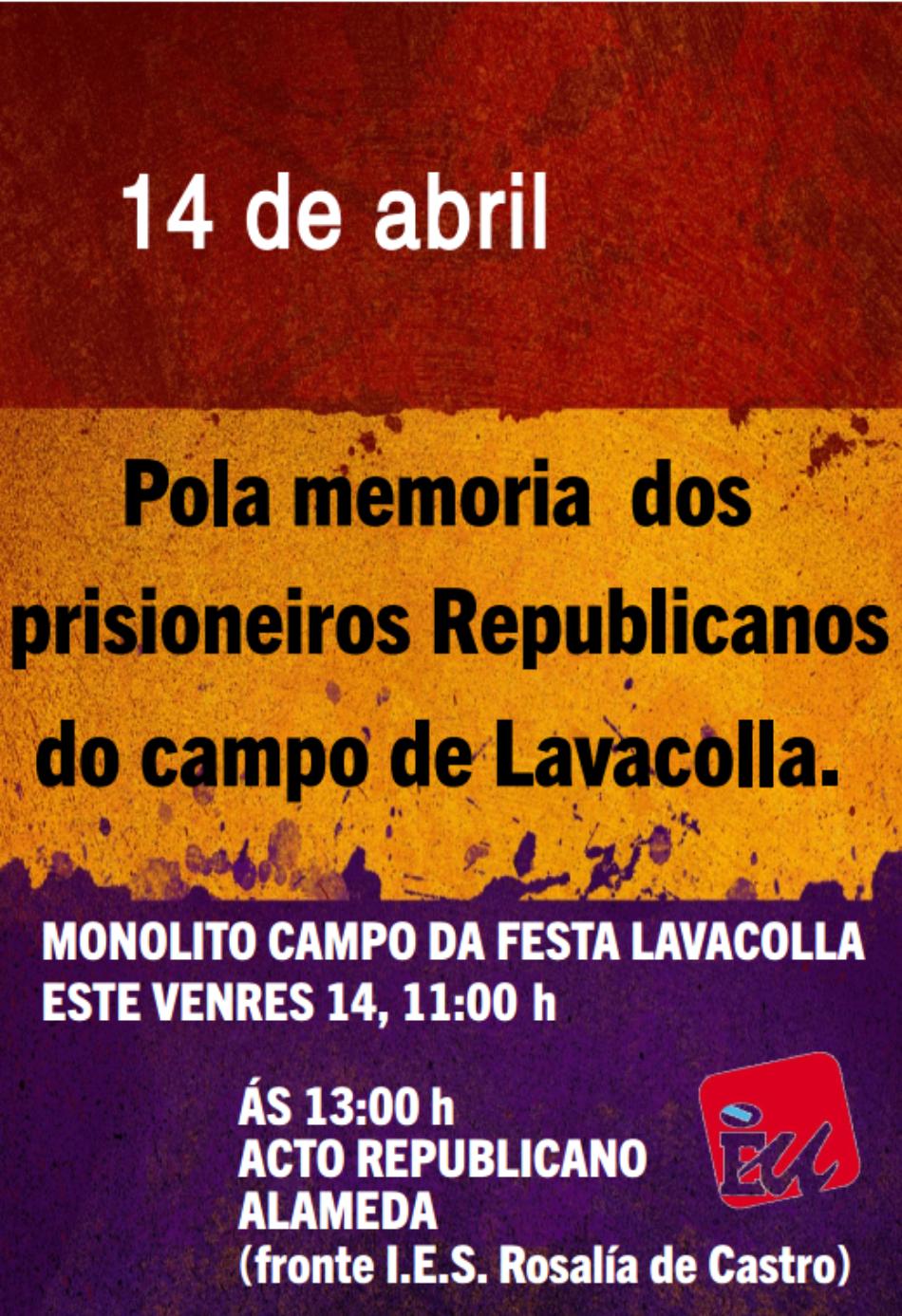 Santiago de Compostela: presentarán un acto en recordo dos represariados da II República o 14 de abril