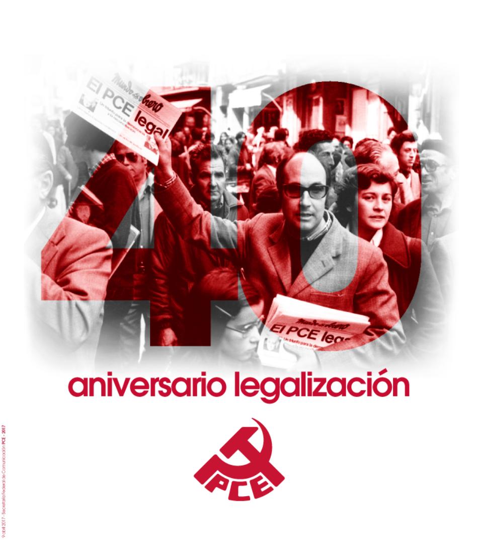 Declaración del PCE en el 40 aniversario de su legalización
