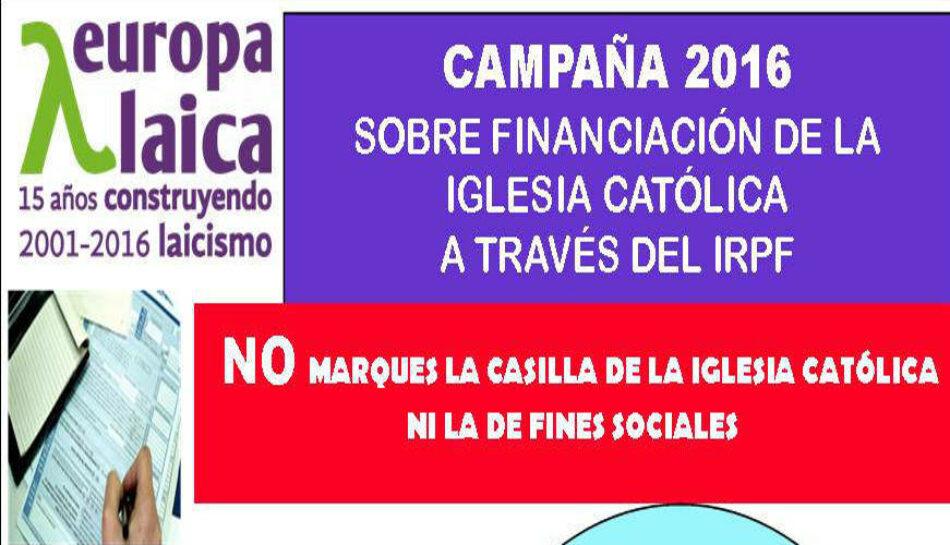 Andalucía Laica rechaza el apoyo de la Junta de Andalucía a la mal llamada «casilla solidaria»