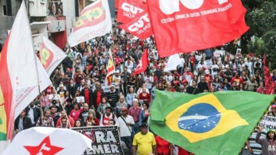 Brasil anuncia primera huelga general para este viernes