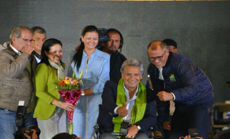"""IU felicita al pueblo ecuatoriano por la """"incontestable victoria"""" de Lenin Moreno, el candidato que puede """"profundizar en los avances políticos y sociales de la 'Revolución Ciudada"""