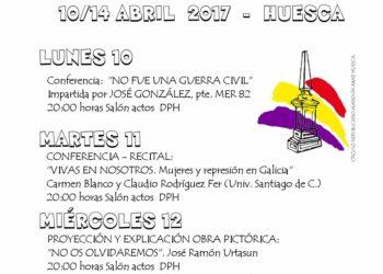 XI Jornadas culturales Republicanas en Huesca