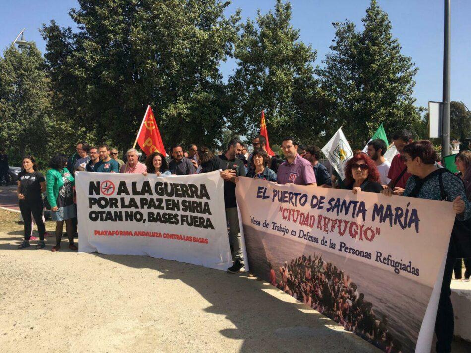 «Hay que parar la guerra: ¡OTAN NO, Bases fuera!»