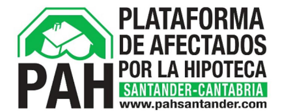 """La PAH se reúne con los grupos del Parlamento de Cantabria para que apoyen la """"ley de vivienda PAH"""""""