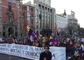 5000 personas se manifestaron contra los Presupuestos Generales del Estado