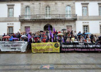 Concentracións en toda Galiza de rexeitamento á violencia de xénero