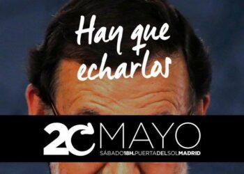 Con el lema «Hay que echarlos. Moción de censura», se convoca una concentración en la Puerta del Sol el día 20 de mayo
