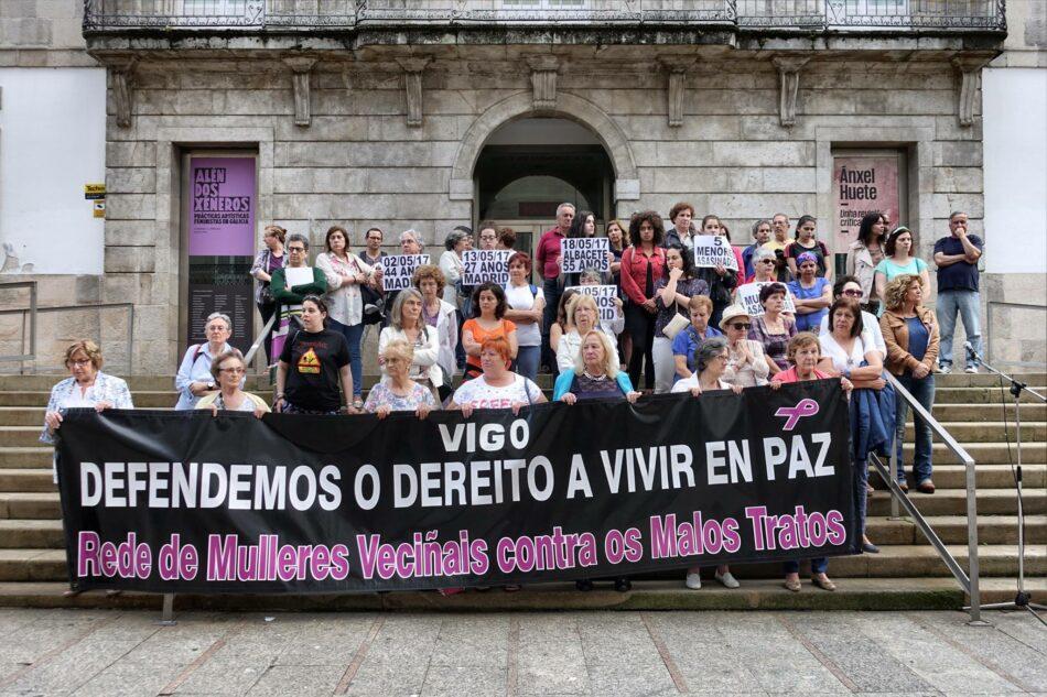 Concentración en Vigo contra a violencia de xénero